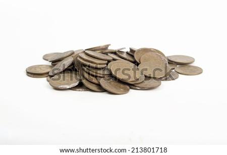 Set old coins of the Soviet Union 3 kopecks - stock photo