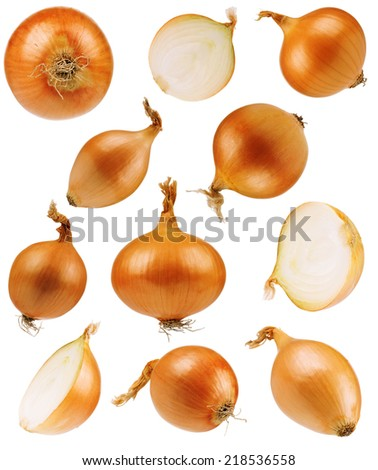 Set onions - stock photo