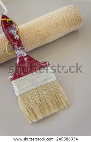 set paint brush - stock photo