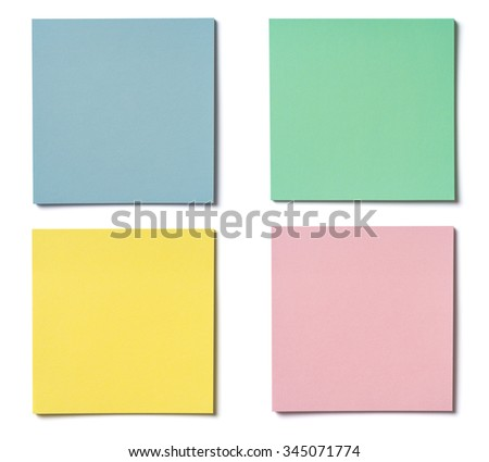 Set pieces of paper on white background, isolated