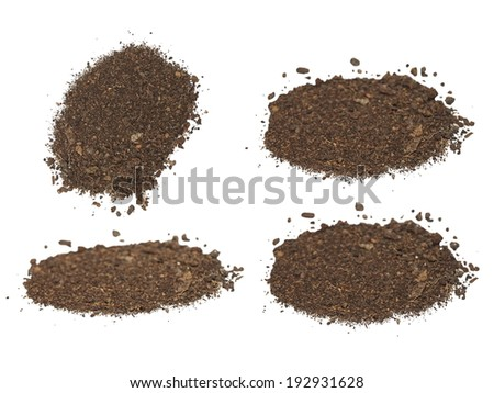 set pile soil isolated on white background with clipping path  - stock photo