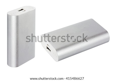 set power bank. Isolated on white background