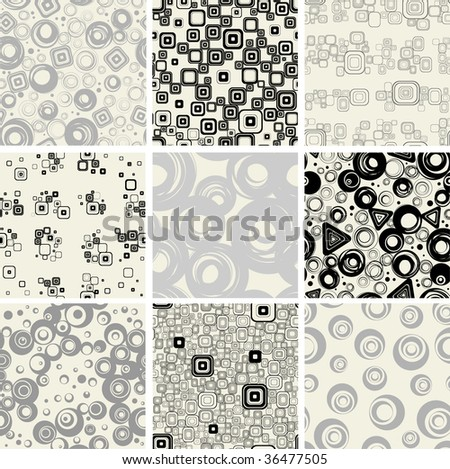 Set retro seamless backgrounds. - stock photo
