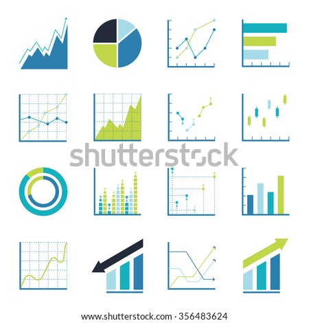 Set Statistics Icon Graphic Analysis Asset Stock Vector