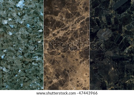 set texture of natural stone - stock photo