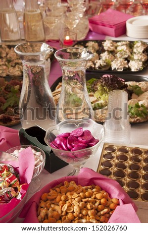 set the table for the wedding party - stock photo