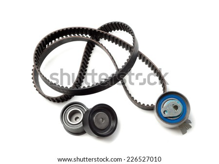 Set the timing belt. Isolate on white. - stock photo
