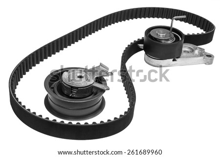 set the timing of the engine of the car on a white background - stock photo
