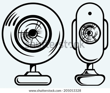 Set webcam. Raster version - stock photo