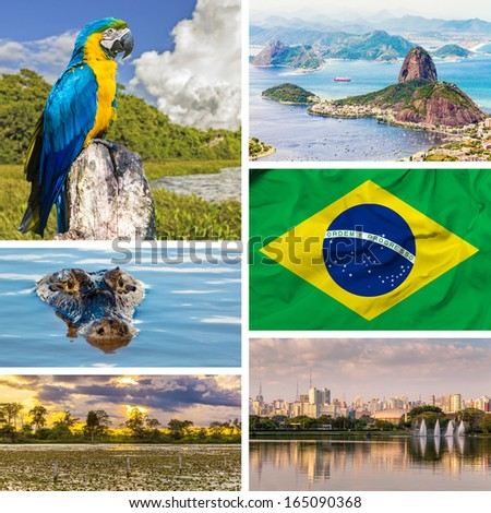 Set with some images of Brazil, South America - stock photo