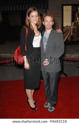 "Seth Green & Candace Bailey at the Los Angeles premiere of ""Rails & Ties"" at Warner Bros. Studios, Burbank, CA. October 24, 2007  Los Angeles, CA Picture: Paul Smith / Featureflash"