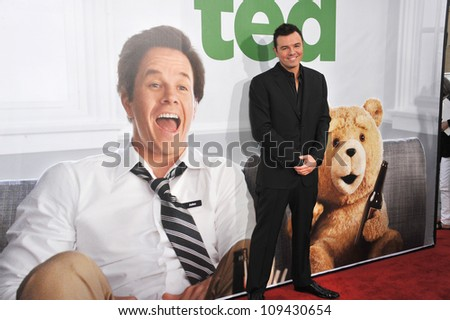 """Seth McFarlane at the world premiere of his movie """"Ted"""" at Grauman's Chinese Theatre, Hollywood. June 22, 2012  Los Angeles, CA Picture: Paul Smith / Featureflash - stock photo"""