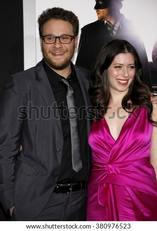 "Seth Rogen and Lauren Miller at the Los Angeles Premiere of ""The Green Hornet"" held at the Grauman's Chinese Theater in Hollywood, California, United States on January 10, 2010."
