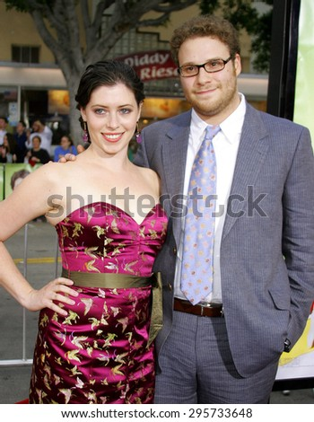 """Seth Rogen attends Los Angeles Premiere of """"Knocked Up"""" held at the Mann Village Theatre in Westwood, California, on May 21, 2007.   - stock photo"""