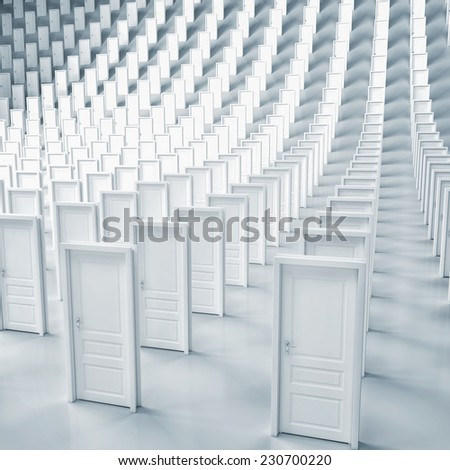 Sets of doors - stock photo