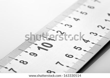 setsquare isolated on white background - stock photo