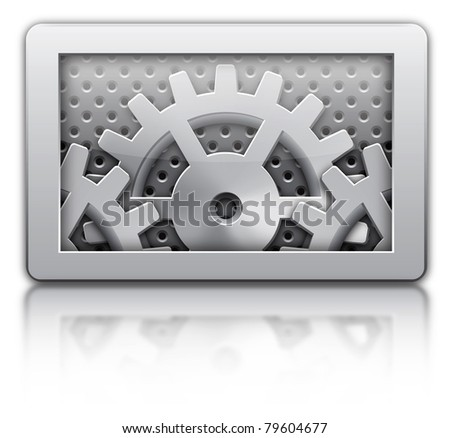 Setting gears icon - stock photo