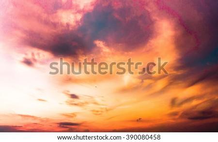 Setting Sun Night is Near  - stock photo