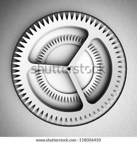 Settings icon with gears - stock photo