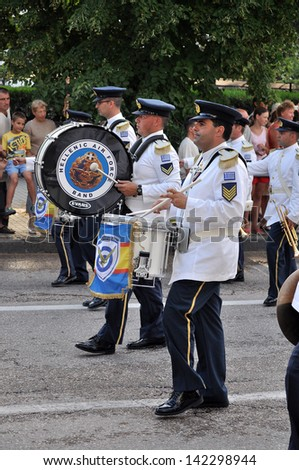 SEVASTOPOL / UKRAINE - JUNE 14: Parade of military orchestras in Sevastopol, Ukraine, dedicated to the 230 anniversary of the city of Sevastopol June 14, 2013. �«Military Tattoo�».