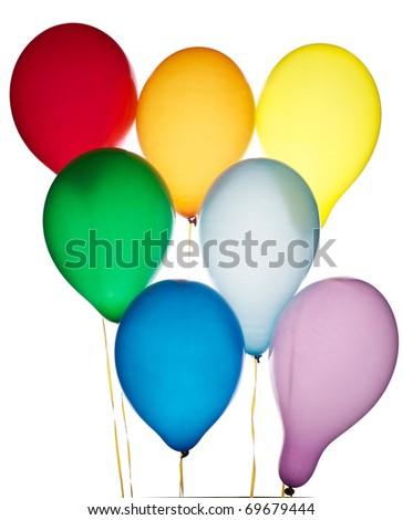 Seven balloons - stock photo