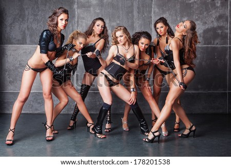 Sexy Female Dance Group