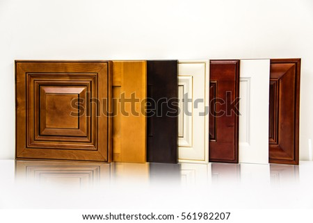 Seven door s&les for kitchen cabinets. Door are made from wood maple. Style of & Cabinet Door Stock Images Royalty-Free Images \u0026 Vectors ... Pezcame.Com
