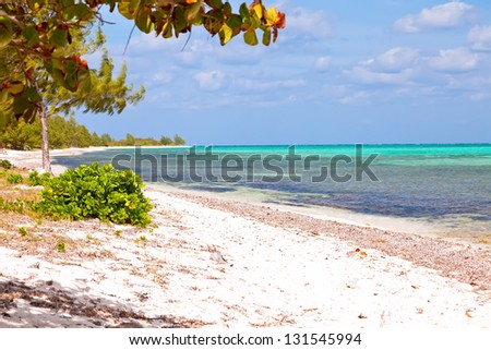 Seven Mile Beach on Grand Cayman, Cayman Islands - stock photo
