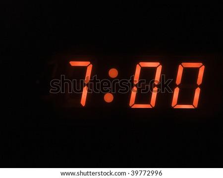 seven o clock am - stock photo