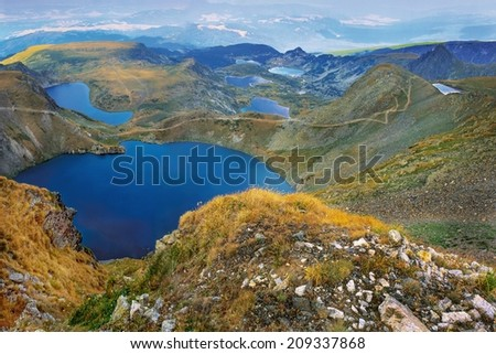 Seven Rila lakes, Bulgaria - stock photo