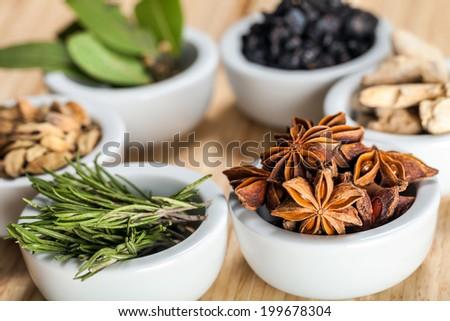 Seven spices - stock photo