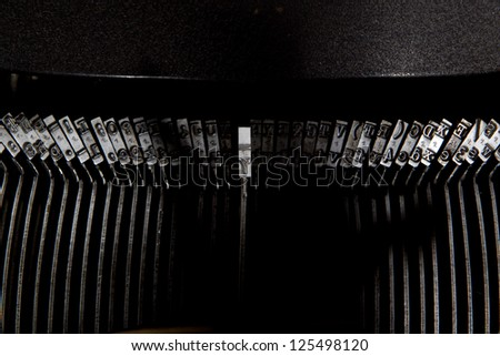 seven written with typewriter keys - stock photo