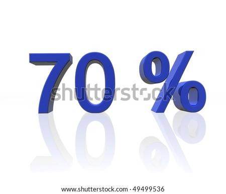 seventy percent - stock photo