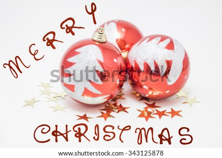 several balls to decorate the Christmas tree  - stock photo