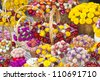 Several bouquets of colorful flowers-selective focus, closeup - stock photo