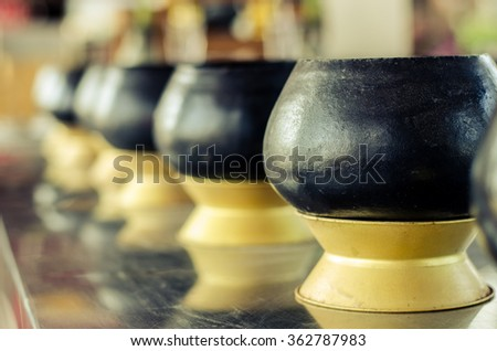 Several bowls for Buddhist monks