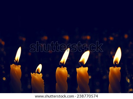 several candles - stock photo