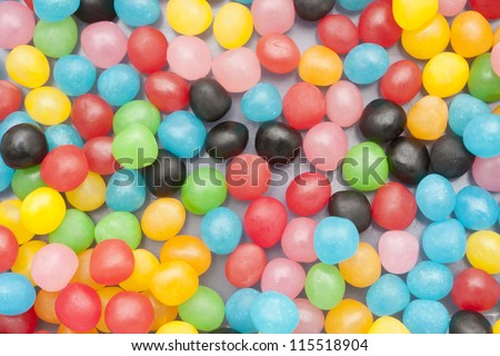 several candy colors for kids