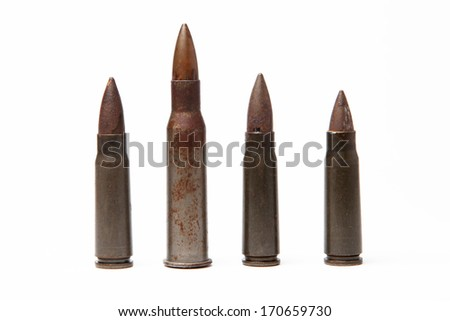 several cartridges - stock photo
