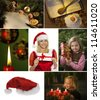 several different images for advent and christmas. - stock photo