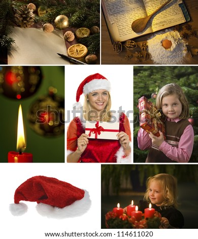 several different images for advent and christmas.