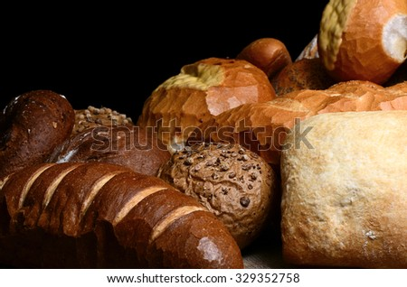 Several different kinds of bread - stock photo