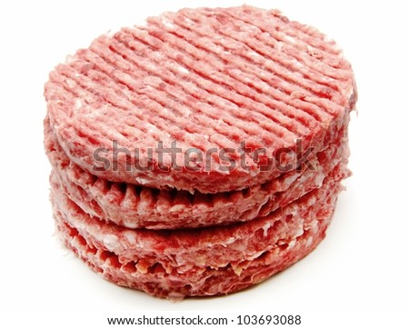 Several fresh hamburger - stock photo