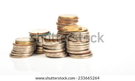 several money stacks - stock photo