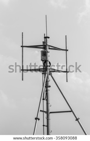Several radio tower  - stock photo