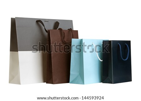 Several shopping bags. - stock photo