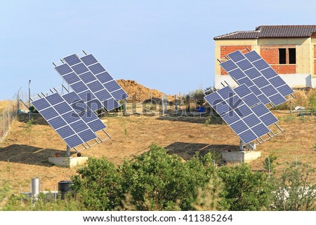 Several Solar Panels Power for New Homes