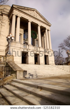 Severance Hall, Home of the Cleveland Orchestra, in Cleveland, Ohio - stock photo