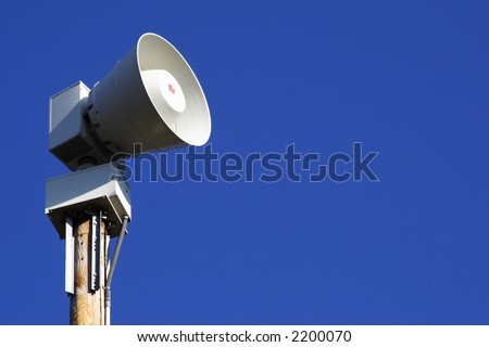 Severe weather and tornado warning siren - stock photo