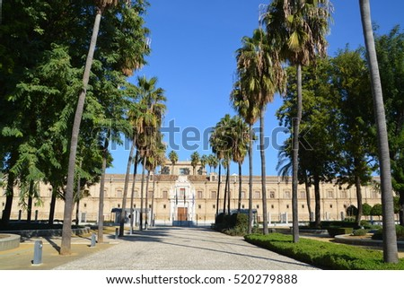 SEVILLA, NOVEMBER 19, 2016;  Hospital de las Cinco Llagas - current seat of the Parliament of Andalusia in Seville, Andalusia, Spain